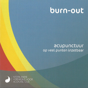 folder van acupunctuur en burnout